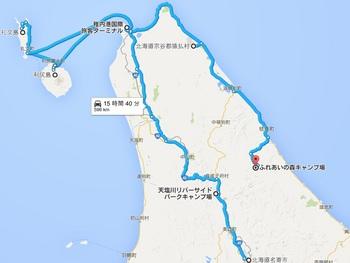 無料キャンプ場の薪ストーブのところの地図.jpg